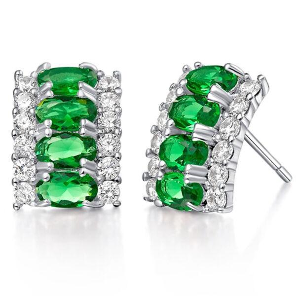Carolina Swarovski kristályos fülbevaló zöld