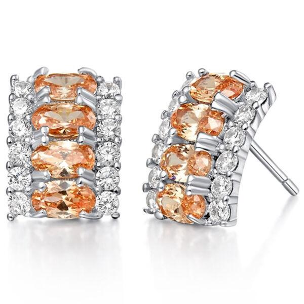 Carolina Swarovski kristályos fülbevaló pezsgő