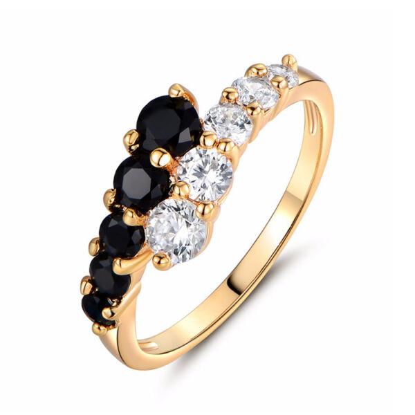 Cinzia kristályos gyűrű gold