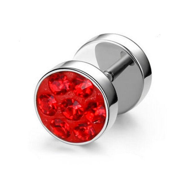 Donelle nemesacél fülbevaló piros