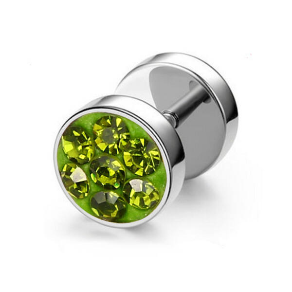 Donelle nemesacél fülbevaló zöld