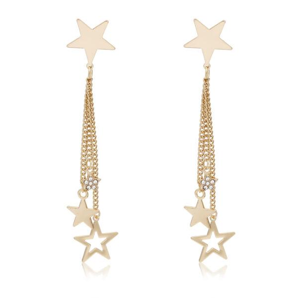 Négy csillag fülbevaló gold