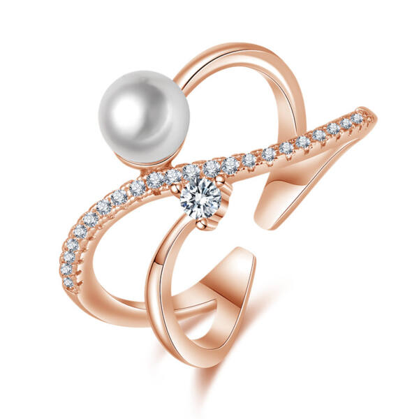 Italia állítható méretű gyűrű rosegold