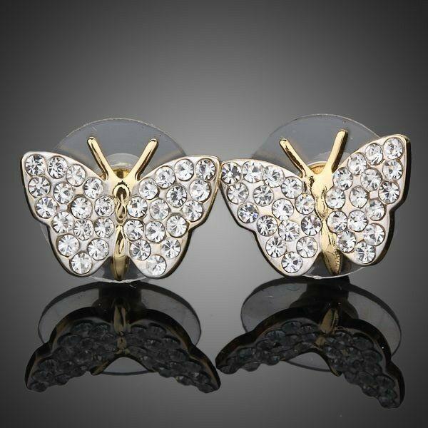 Smoon csillogó pillangó fülbevaló