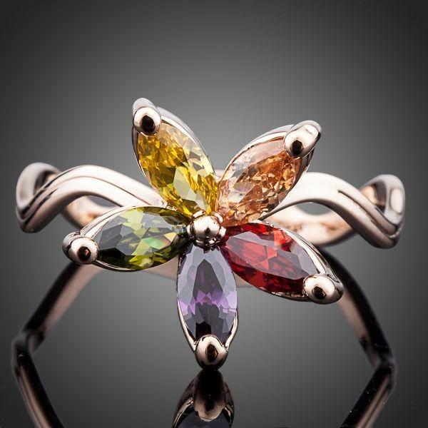 Smoon hullámos virág gyűrű