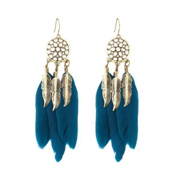 Álomfogó fülbevaló kék-arany