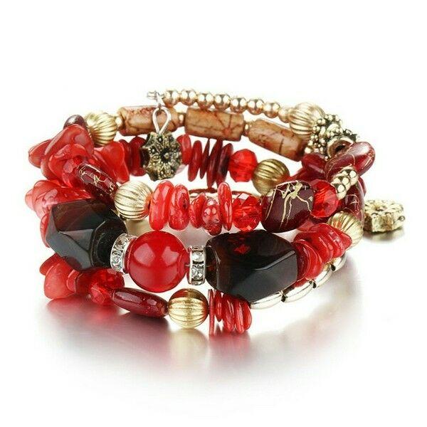 Chiara exkluzív karkötő pirosas