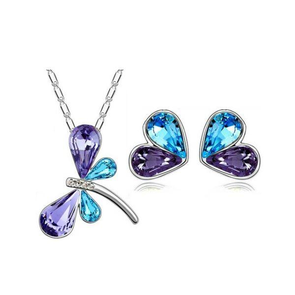 Pillangós szett lila-kék