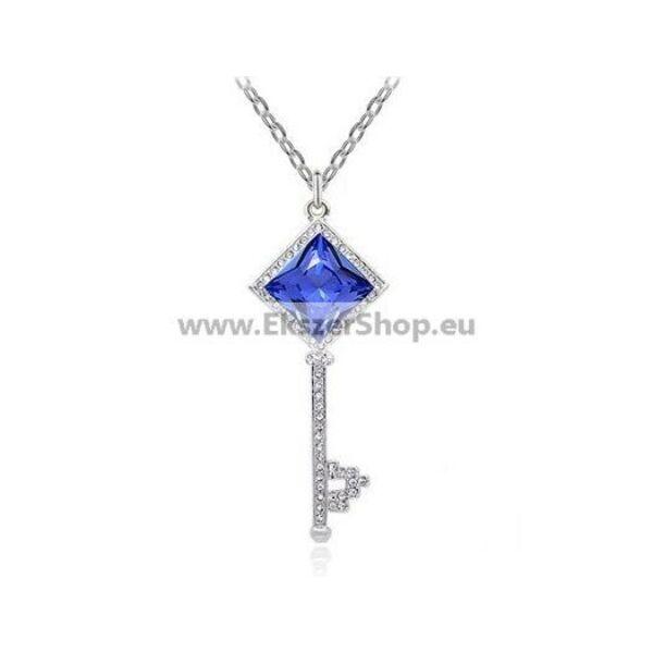 Kulcs medálos nyaklánc kék