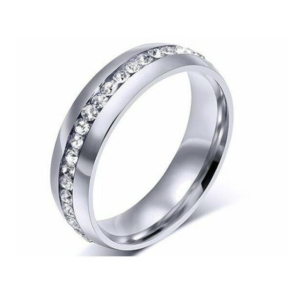 Nemesacél Smoon Luxury egysoros gyűrű whitegold
