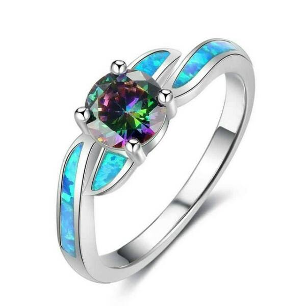 Opál türkiz varázslat gyűrű 56,9 mm
