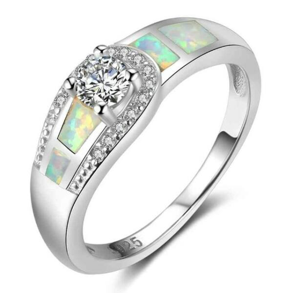 Opál köves gyűrű 51,8 mm