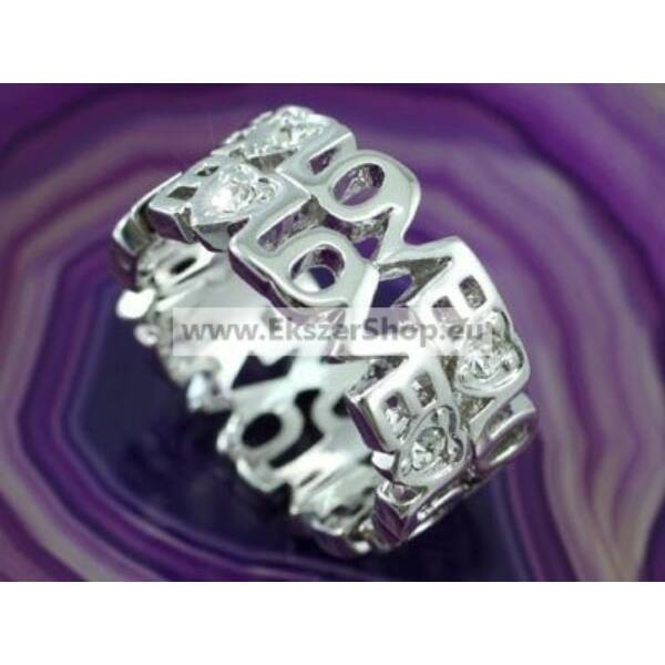 322 LOVE Swarovski kritályos gyűrű