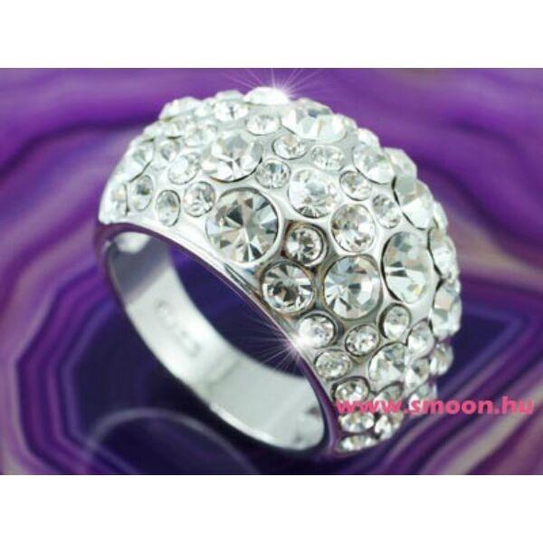 Sok köves Swarovski kristályos egyedi gyűrű