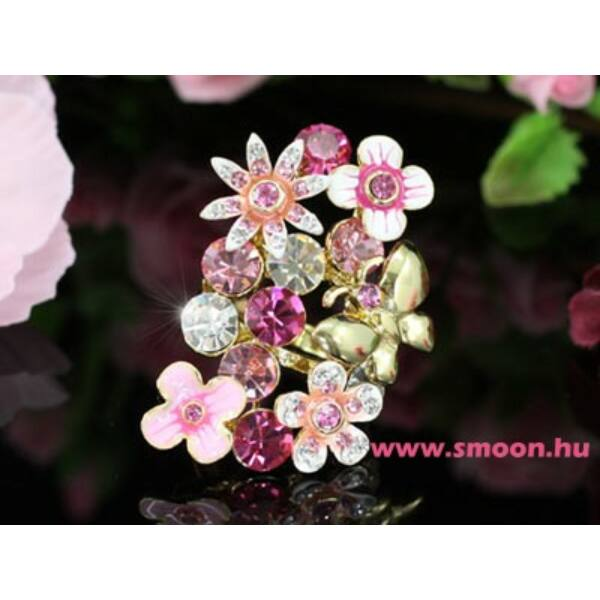 Virágos-pillangós gyűrű 117