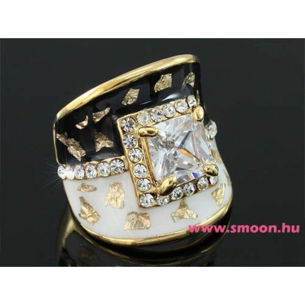 Vintage exkluzív gyűrű Swarovski kővel 0172