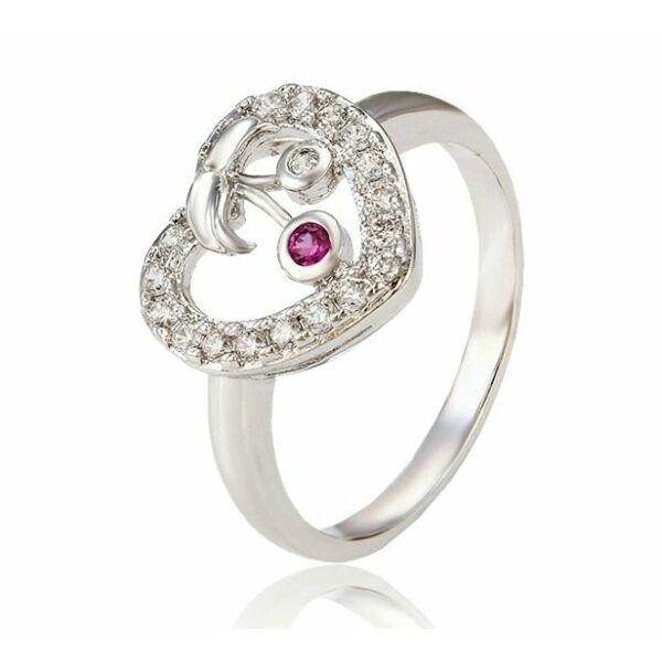 Cseresznyés-szíves gyűrű