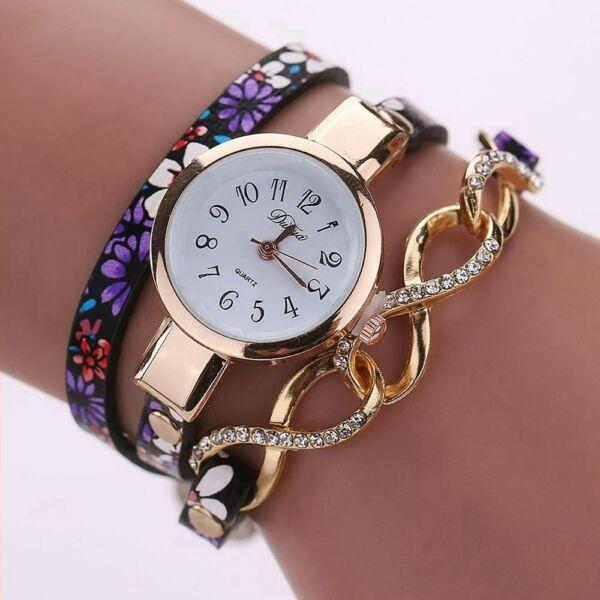Masnis-virágos óra fekete-lilás