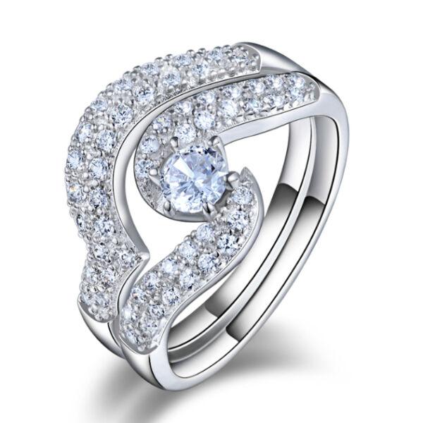 Kristály örvény szétszedhetős gyűrű