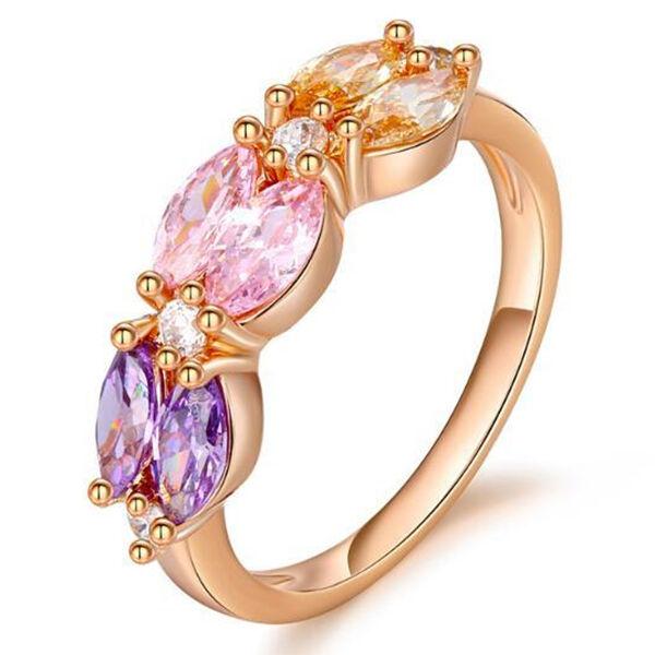 Cella színes kristályos gyűrű 51,8 mm