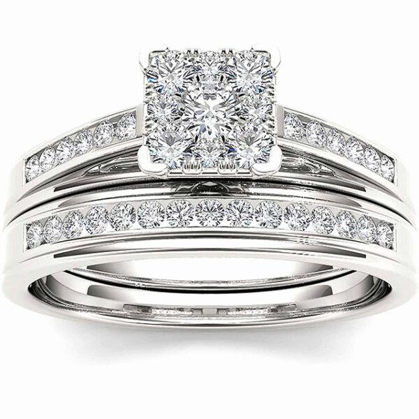 Amanda négyzetkristályos gyűrű