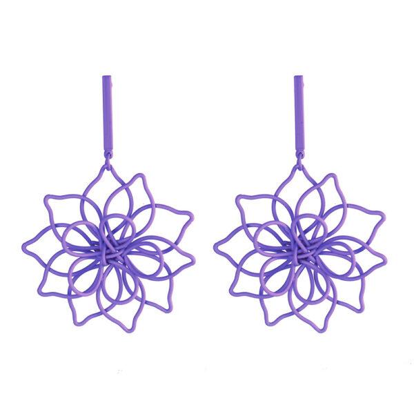 Blomma fülbevaló lila