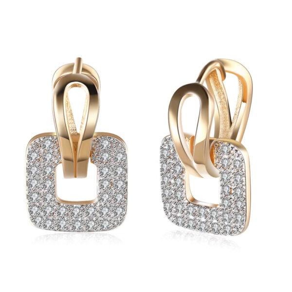 Agnella négyzet fülbevaló gold