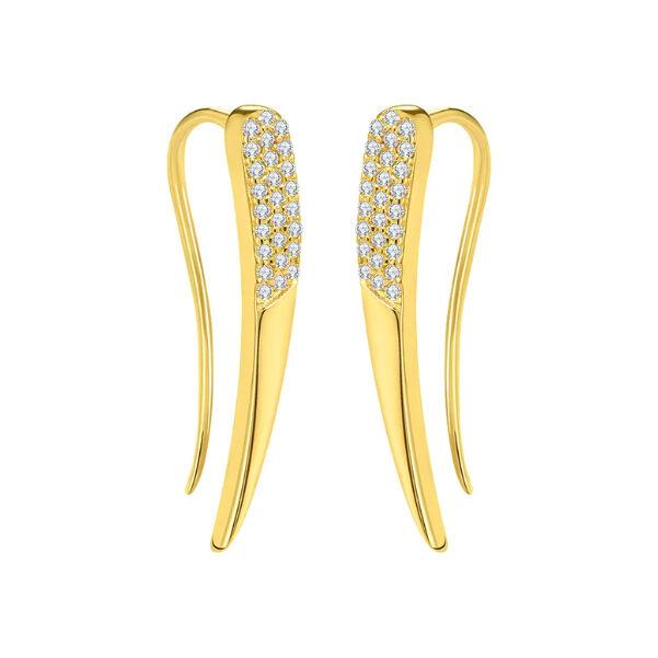 Trendi angyalszárny fülbevaló gold