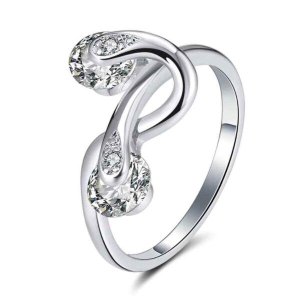 Lina kristályköves gyűrű whitegold