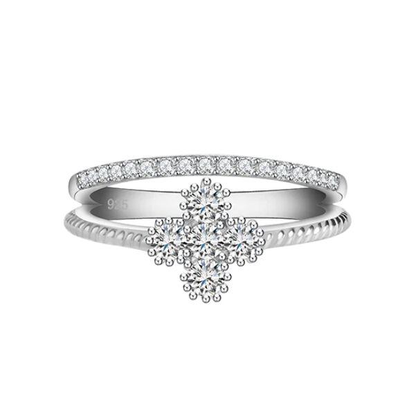 Smoon dupla gyűrű virággal