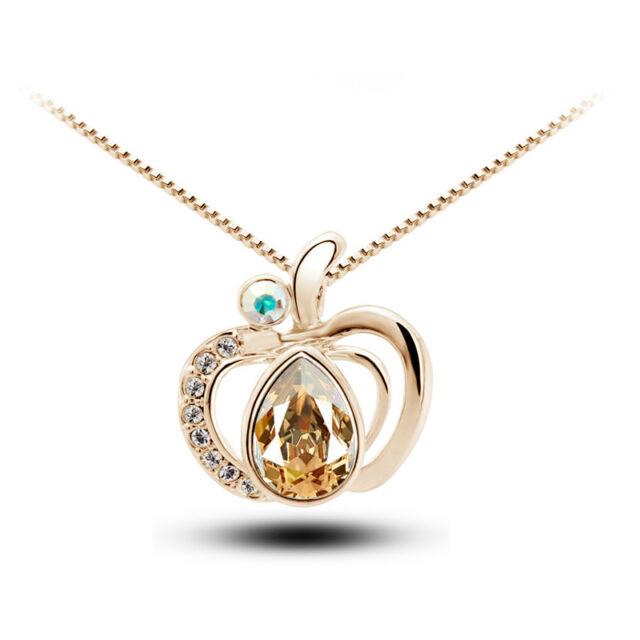 Alma medálos nyaklánc gold-pezsgő