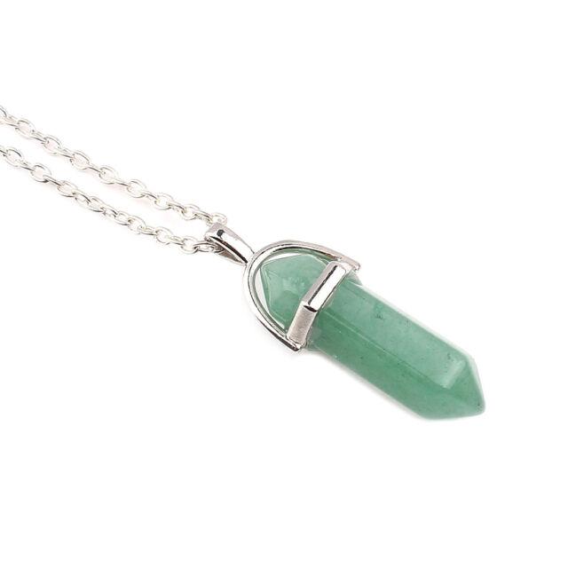 Ásvány függős nyaklánc ezüst zöld aventurin