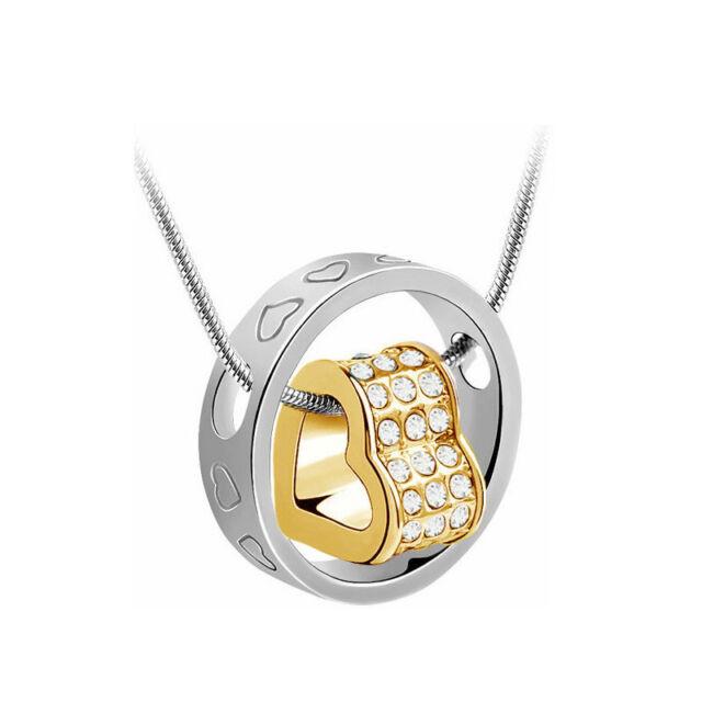 Gyűrű+szív nyaklánc bicolor
