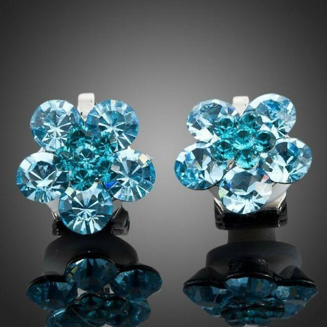 Smoon kék kristályvirág fülbevaló