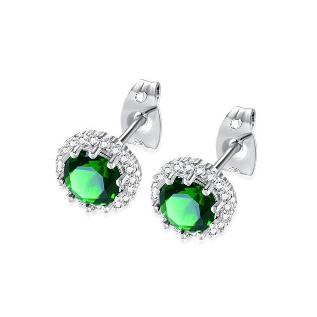 Pici beszúrós csillogó fülbevaló zöld