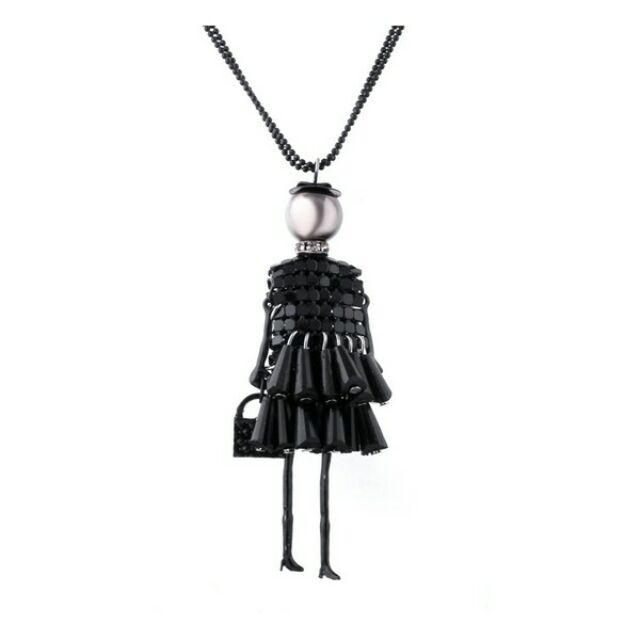 Shopping lady fekete hosszú nyaklánc