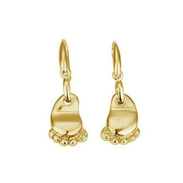 Tappancs fülbevaló gold
