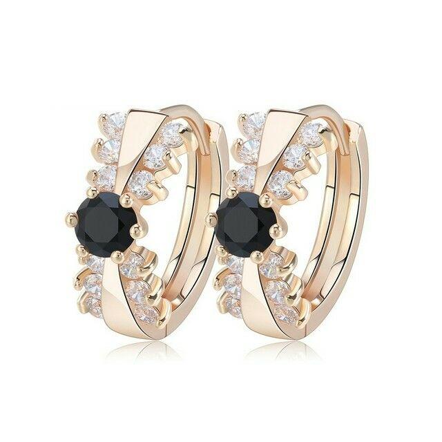Smoon Luxury Cassandra gold-black fülbevaló