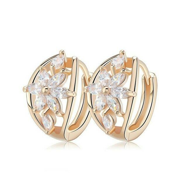 Smoon Luxury Flores white-gold fülbevaló