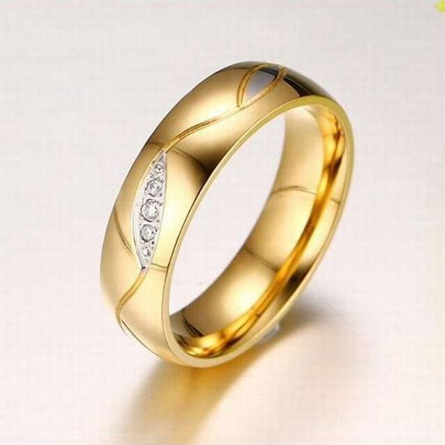 Hullámos nemesacél gyűrű gold
