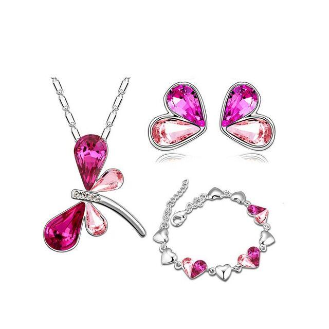Pillangós háromrészes szett pink
