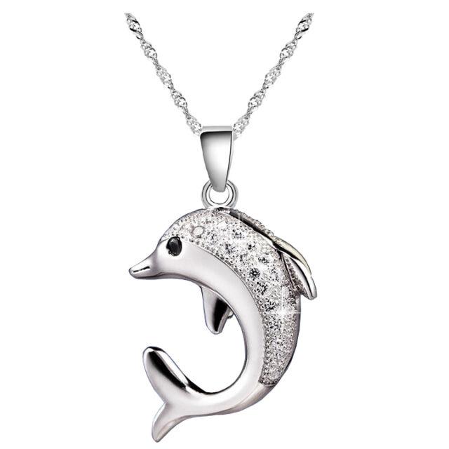 Ezüstös delfin medálos nyaklánc